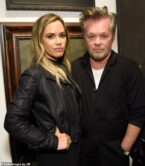 Setting up her dad: The 69-year-old rocker - previously known as Johnny Cougar - was introduced to Natasha, 46, by his daughter, ex-RHOBH star Teddi Mellencamp (Pictured, 2018)