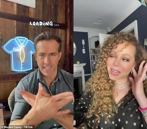 Lip-sync: While promoting his new movie Free Guy, Ryan Reynolds has professed his adoration for Mariah Carey, which lead to him putting her hit song Fantasy in the movie, and even doing a hilarious lip-sync to the song on TikTok