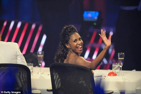 Happier times: Motsi served as a judge on Das Supertalent back in 2011, where she appeared to have had a considerably more positive experience