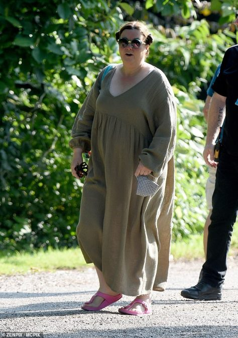 Floaty: Mary Taylor was first seen on set wearing a floaty khaki dress