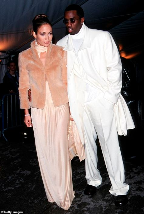1999: The first time she went, the singer was on the arm of rapper and music producer P Diddy, also known as Puff Daddy and Sean Combs