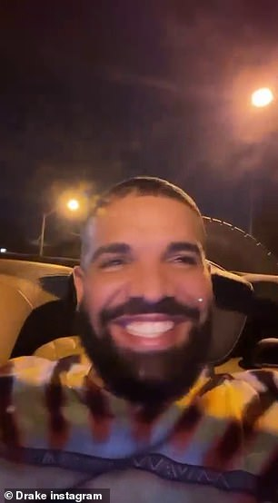 Drake, 34, didn't seem to be upset over West's social media antics, as he shared a shot of himself driving through Toronto on Sunday evening while chuckling in the driver's seat