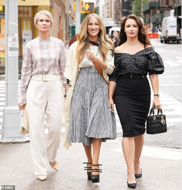 Up to date: In the revival, Carrie, Miranda and Charlotte are navigating New York City and relationships as 50-somethings