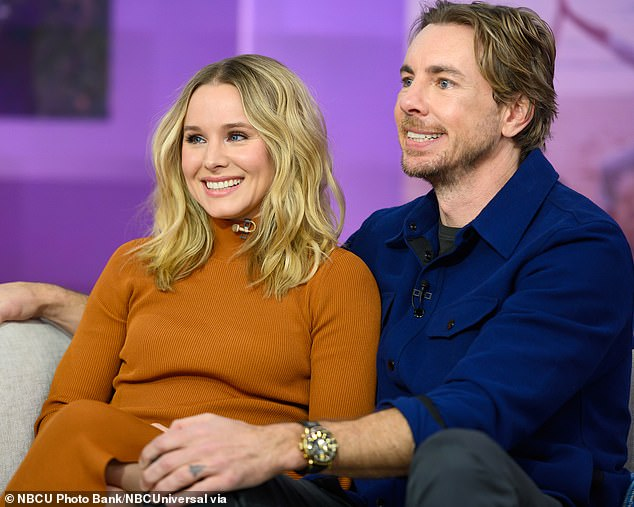 Meanwhile: Dax and his wife Kristen Bell then went on The View where she revealed she would 'wait for the stink' before bathing their daughters Lincoln, eight, and Delta, six
