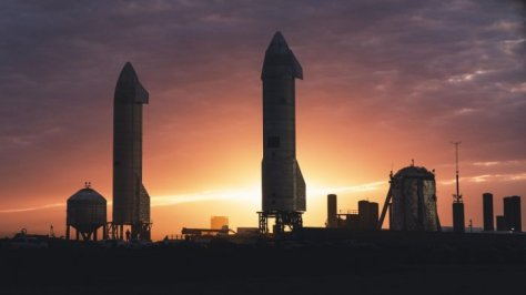 Dusk at SpaceX's South Texas Launch Facility. (SpaceX)