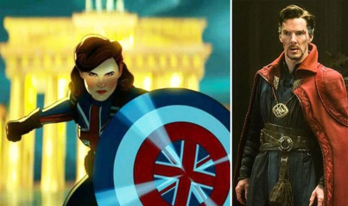Doctor Strange and Hayley Atwell as Captain Carter in The Multiverse of Madness