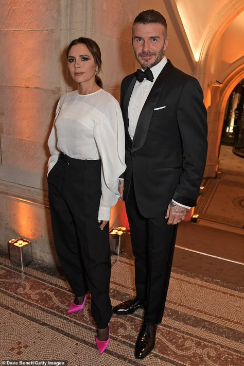 Treat: Victoria and David Beckham have reportedly installed a £7,000 ice cream machine from US fast food chain Wendy's into their home, despite Posh Spice not having had the treat in twenty years