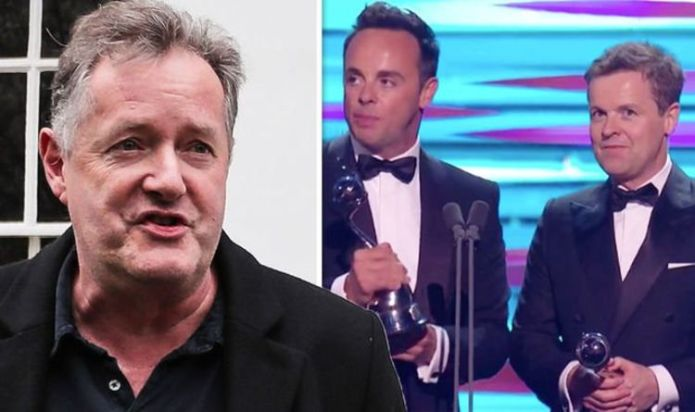 'Predictable snoozefest!' Piers Morgan calls it a 'pointless!' After losing to Ant and Dec, NTAs