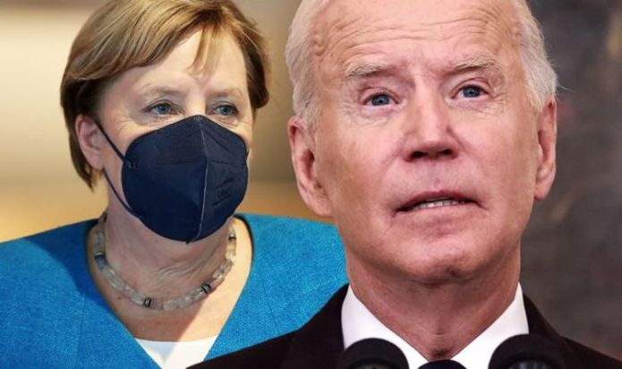 """After a bust up with Merkel about the gas crisis, Biden has left EU to Putin's will: """"Not bothered!"""""""