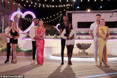 No show:Appearing on Heat's Under The Duvet show with her boyfriend, they also admitted they didn't go out with the other stars after the reunion show