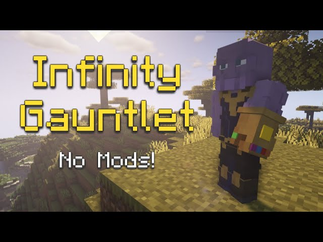 The Infinity Gauntlet can be used in Minecraft now