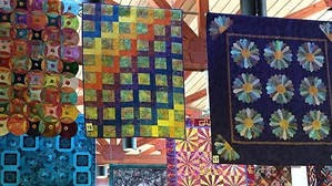 Quilt show in Sedona Public Library