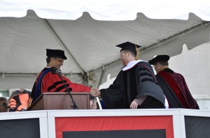 Joss Whedon received an honorary degree.