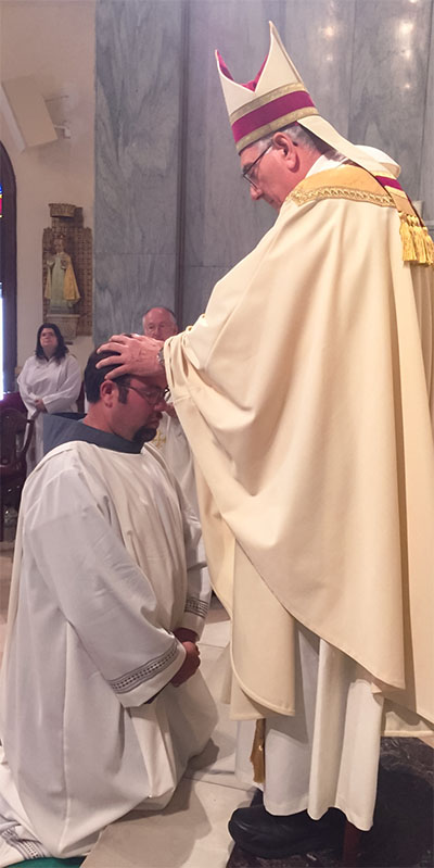 On Saturday, August 6, 2016, at San Damiano Mission in Brooklyn, New York, Friar Nicholas Spano, OFM Conv. was ordained a Transitional Deacon by the Bishop of Brooklyn, His Excellency, the Most Reverend Nicholas Anthony DiMarzio. Friar Nick was supported by many of the friars of our province, his family, friends and a large assembly of the people he serves. Please keep Friar Nicholas in your prayers.
