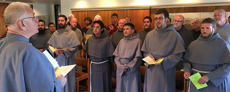 On July 20, 2016 at the St. Francis of Assisi Friary Novitiate in Arroyo Grande, California, the Very Reverend Fr. Michael Zielke, OFM Conv., Minister Provincial of St. Bonaventure Province, presided and preached at Vespers for the 2016 Investiture Ceremony.  There were fifty Friars in attendance, as we welcomed seven new Novices, vested in the habit of our Order. Our province welcomes and congratulates our newest Novice: Friar Jason DeMartini.
