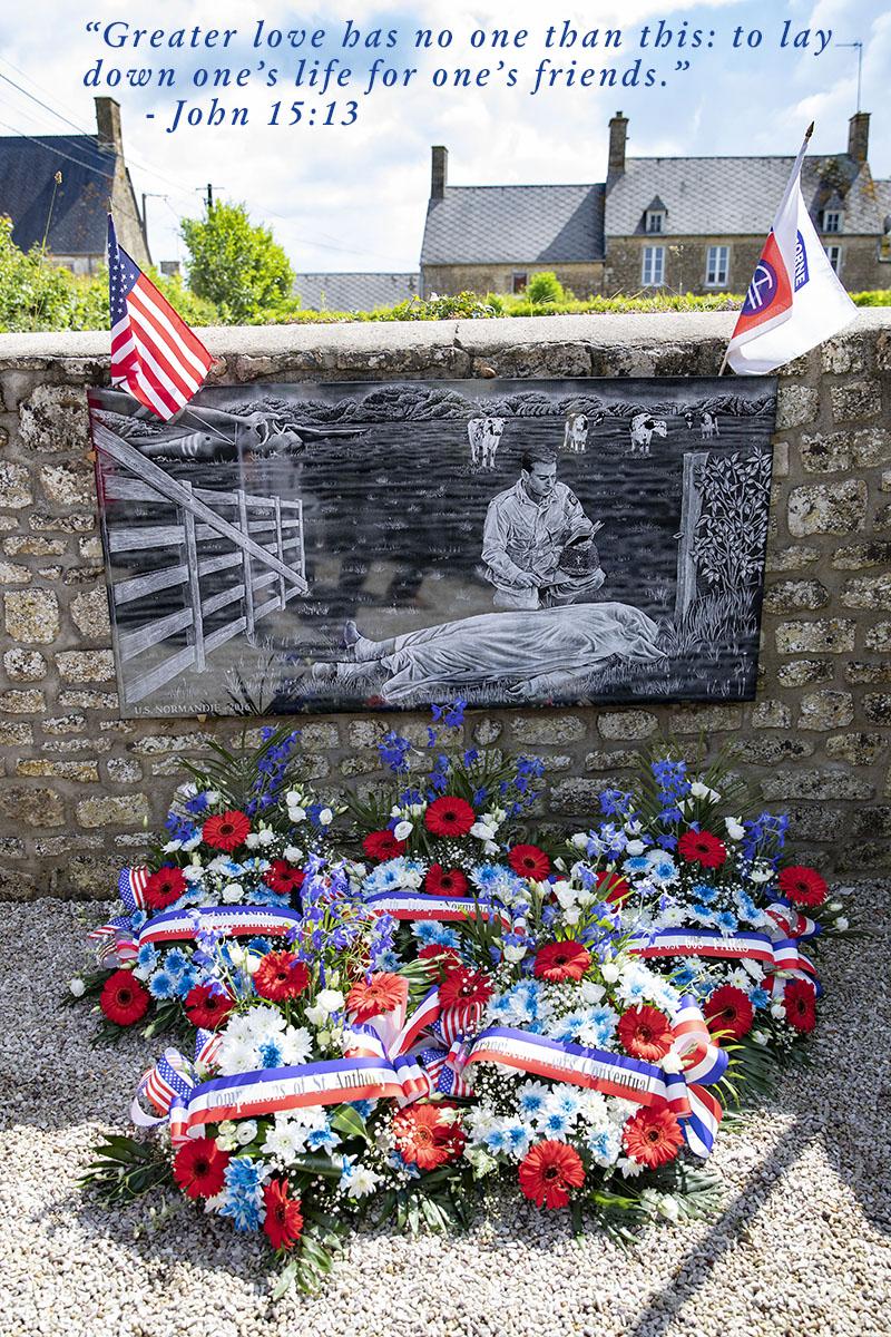 Wreaths placed at Fr. Ignatius' Memorial