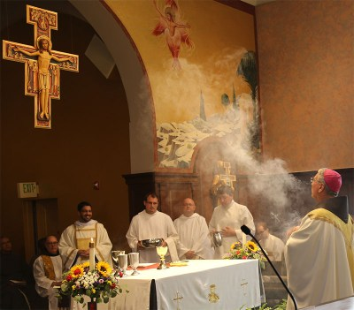 Bishop Gregory Hartmayer, OFM Conv. of the Diocese of Savannah offers Mass at the Shrine of St. Anthony in Ellicott City, Maryland.Bishop Gregory Hartmayer, OFM Conv. of the Diocese of Savannah offers Mass at the Shrine of St. Anthony in Ellicott City, Maryland.