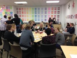Sweetland visits Skyline High School