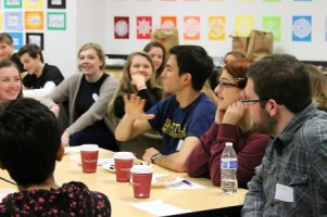 Peer Writing Consultants visit Skyline High Writing Center