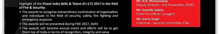 AWARDS by FSAI for Finest India Skills and Talent (FIST) 2017