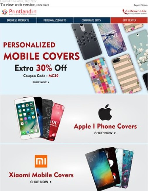 Image result for Printland Offer : Get 30% off on Personalized Mobile Covers