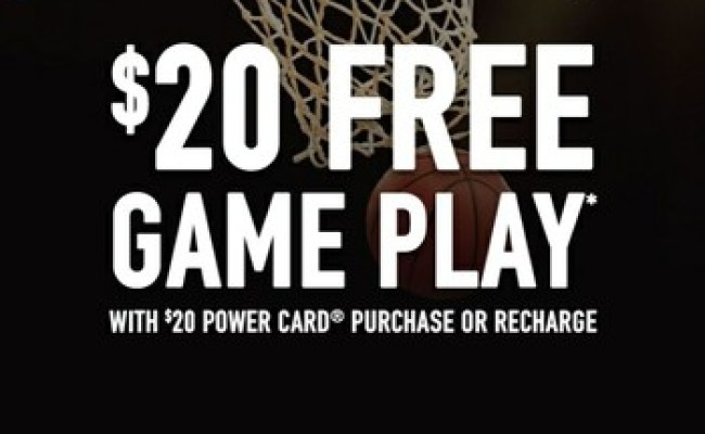 Dave And Busters Unlimited 10 Game Play E Coupons