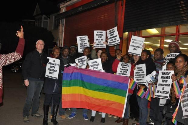 Gay-activists against Pastor Kiganda