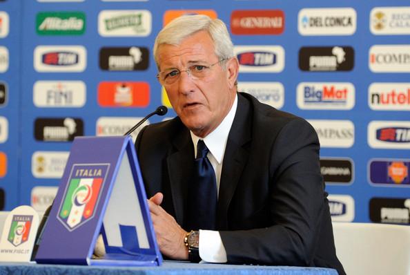 marcello lippi among soccer coaches
