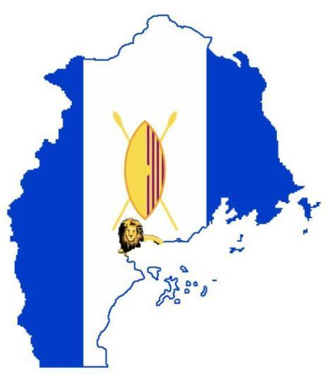 The Buganda kingdom flag