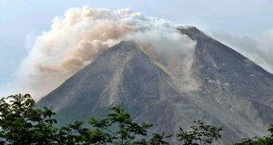 Mountain Sinaburg erupted