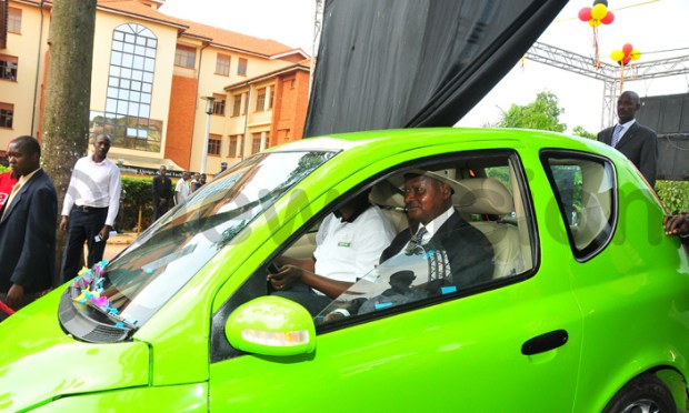 This kiira electric car was launched by president Yoweri Museveni - newslex point