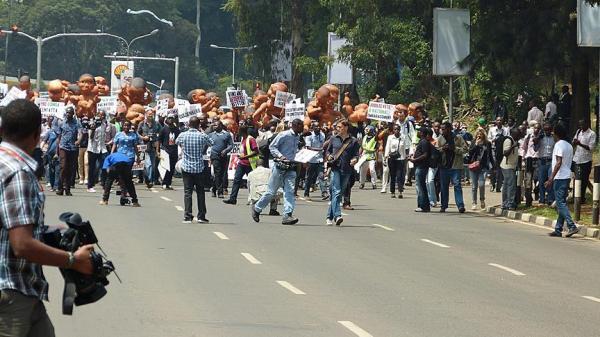 kenyan protesters