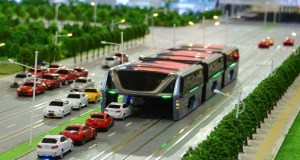 elevated bus