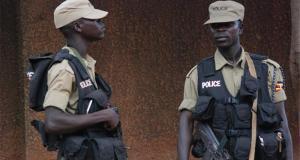 police officers in the uganda police