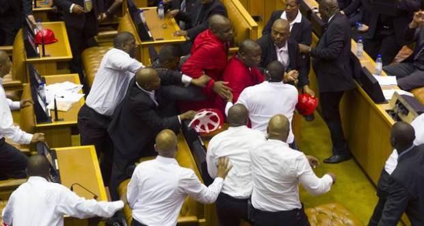 Julius Malema in parliament