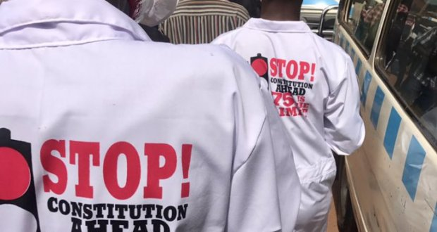 Youth in kampala arrested for protesting against the presidential age limit