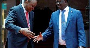 Uhuru and odinga meet
