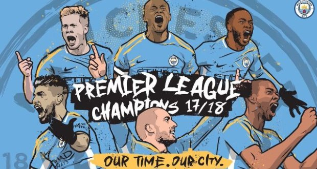 Man city win the premier league title