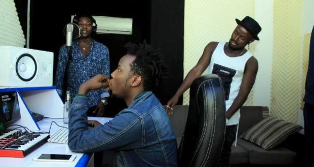 Ykee Benda and Nigeria's Reekado Banks In Studio For A Collabo