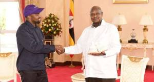 Kanye West meets Museveni