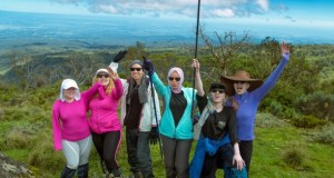 Albino women climb mount