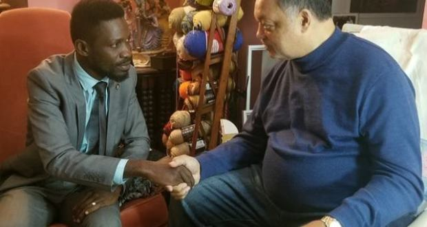 Bobi Wine Meets The Leader Of Civil Rights Movement In The US