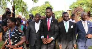 Bobi Wine Joined Mourners