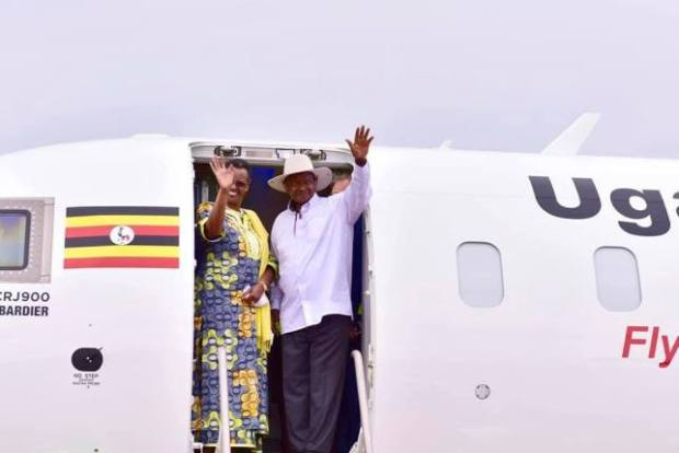 Image result for photos of Uganda's Bombardier planes