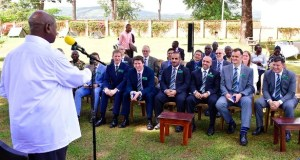 museveni meets UK trainees