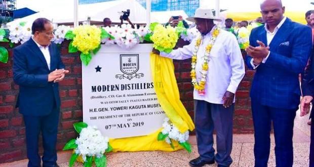 museveni opens 8 factories
