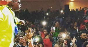 John Blaq Excited Fans At Royal Regency, London