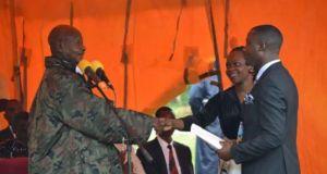 museveni donates shs100 m to born again
