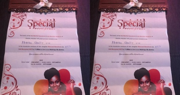 Gravity Omutujju Displays His Invitation Card To Attend Rema's Ceremony