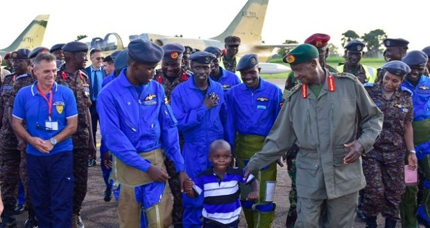 Museveni presided over 18 pilots
